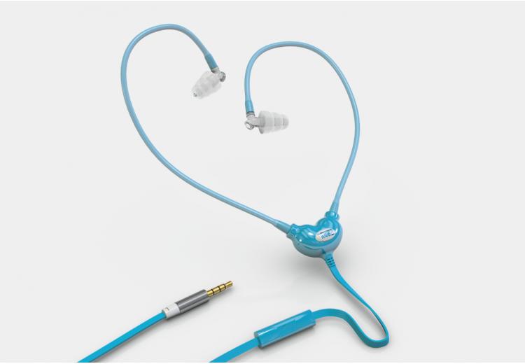 Kék színű, Smart&Safe® levegőcső fülhallgató